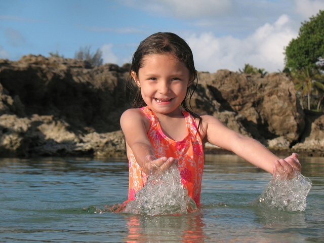 image of girl in the water