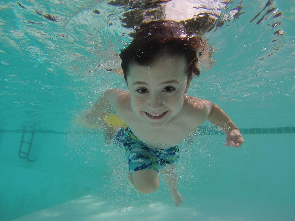 Kids need breathe to swim