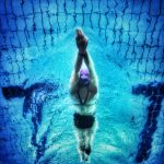 image of swimmer with great strealine
