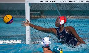 Not much gets by Ashleigh Johnson, the US water polo goalie - The Boston  Globe